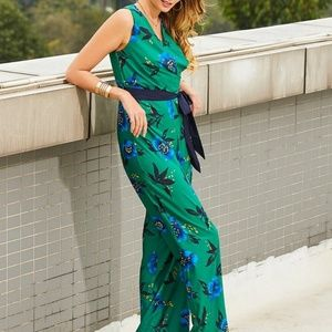 🔶️JUST IN🔶️(M) Emerald Floral Jumpsuit